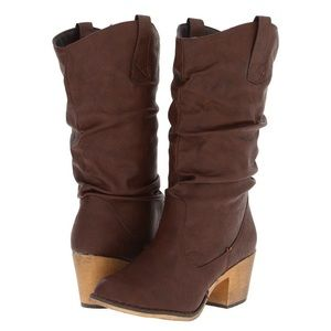 Charles Albert Boots Brown Western Style